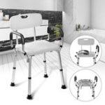 New Adjustable Medical Shower Folding Chair Bathtub Bench Bath Seat Aid Stool Armrest Back