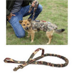 New KALOAD ZY035 1000D Nylon Multi-Function Army Training Dog Bungee Leash Hunting Military Tactical Dog Traction Rope