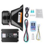 New 400W 12V Alarm Fire Warning Siren Horn Speaker Wireless Remote Amplifier