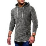 New Mens Vintage Hooded Printing  Casual Sweatshirt