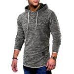 New Mens Vintage Hooded Printing  Casual Sweatshirt