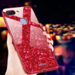 New Bakeey Shell Bling Glossy Tempered Glass+TPU Protective Case for Xiaomi Redmi 6