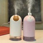 New Mini Rabbit Bear Air Humidifier Purifier Diffuser USB Charging Mist Maker