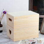 New For Toy Clothes Cosmetics Trinket Jewelry Wooden Parts Storage Box Wood Case Holder