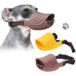 New Adjustable Pet Face Mask Silicone Dog Anti Stop Chewing Face Guard Hunting Dog Supplies