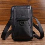 New Men Genuine Leather Large Capacity Multifunction Waist Bag