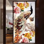 New DIY 5D Diamond Embroidery Decorations Diamond Mosaic Peacock Round Diamond Painting Cross Stitch Kits Home Decor