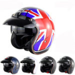New Motorcycle Scooter Summer Half Face Retro Helmet For Harley With Anti-UV Goggles
