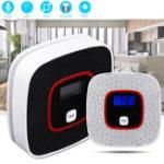 New LCD Smoke Alarm CO Monoxide Detector Poisoning Gas Warning Sensor Monitor Voice