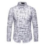 New Men Art Print Long Sleeve Shirts