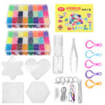 New 8400Pcs Fuse Water Sticky Perler Beads 2 Grid Pegboards DIY Art Craft Toys For Kids