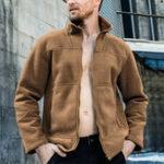 New Mens Polar Fleece Thick Warm Stand Collar Zipper up Jacket