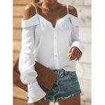 New Off Shoulder Backless Straps Blouse
