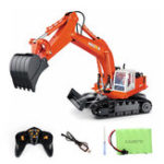 New HuiNa Toys 40MHZ 11CH Rc Excavator Construction Digger Truck Bulldozer Car with Light Toys