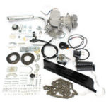New 50cc 2-Stroke Cycle Motorized Bike Silver Body Engine Motor Bicycle Kit