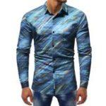 New Mens Printing Cotton Casual Shirts