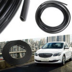 New 5m Rubber Car Interior Moulding Trim Strip Black Flexible Decoration Dashboard Door Edge Line