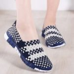 New Women Casual Slip on Knitting Flats