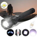 New XANES 1285 Zoomable USB Rechargeable LED Flashlight XHP50 Highlight Telescopic Torch 18650 26650