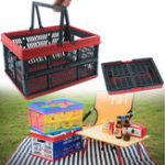 New Outdoor Travel Folding Storage Baskets Plastic Car Trunk Organizer Container Box