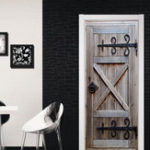 New 3D Retro Old Door Wall Mural Wall Sticker Vinyl Removable Decal Wallpaper Home Room Decor