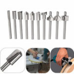 New 10pcs 1/8 Inch Shank High Speed Steels Trimming Cutter Router Bit Woodworking Tool