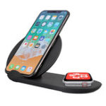 New 2 In 1 Qi Wireless Charger Phone Charger Watch Charger For iPhone/Samsung/Apple Watch Series