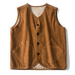 New Men SingleBreasted Corduroy Vintage Vest