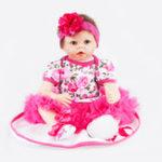 New Silicone 22inch Reborn Dolls Baby Lifelike Baby Newborn Doll Handmade Gift