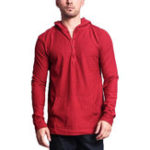 New Mens Casual Loose Pocket Solid Color Hoodie Tops