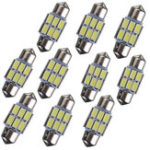 New 31mm 5630 6-SMD Festoon LED Interior Map Dome Lights Bulb DE3175 3022 3021 2W White 10PCS
