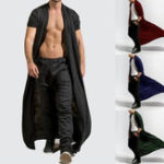 New Mens Casual Comfy Loose Long Cardigans Coat
