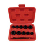 New 10PCS Damaged Nut Bolt Remover Stud Extractor Set Broken Bolt Removal Kit