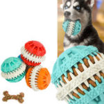 New Dog Chew Pet Toys Pet Clean Teeth Chew Rubber Dumbbell Bone