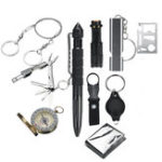 New 11 In 1 SOS Emergency Survival Kit EDC Tools Compass Fret Saw Flashlight Tactical Camping Hiking
