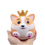 New Crown Fox Squishy 12.5CM Slow Rising Rebound Jumbo Toys With Packaging Gift Collection