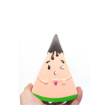 New Fruit Squishy Watermelon Man 13.5CM Funny Expression Jumbo Slow Rising Rebound Toys With Packaging
