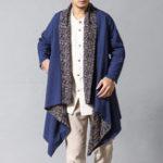 New Mens Cotton Linen Shirt Cardigans Reversible Ethnic Shirts