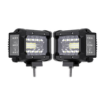 New 3.5 Inch 72W LED Work Light Bar Side Shooter Flood Spot Combo Beam 2Pcs for Jeep Offroad ATV SUV