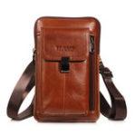 New Men Genuine Leather Waist Bag Shoulder Bag Phone Bag