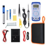 New 20Pcs 60W Electronic Solder Iron Kit Welding Tools Set Screwdriver Tweezer + Digital Multimeter