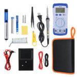 New 20Pcs 60W Electronic Solder Iron Kit Welding Tools Set Screwdriver Tweezer + Digital Multimeter