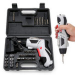 New 4.8V Multi-Function Electric Screwdriver Portable Charging W/ 44pcs Screws Power Tool Set
