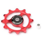 New 1Pc GUB 12T Tooth Bike Transmission CNC Aluminum Alloy Outdoor Bearing Tension Wheel Wheel Rear Derailleur