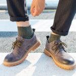 New Men Cotton Patchwork Breathable Tube Socks