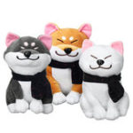 New Kawaii Stuffed Plush Toy Doge Puppy Doll With Scarf Shiba Inu Dog Soft Cute Gift