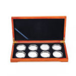 New Oak Coin Wood Case Display Box Wooden Parts Storage Collection Holders for 8 Coins