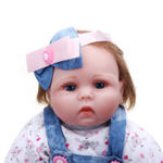 New Oubeier 55CM Handmade Silicone Reborn Girl Body Lovely Cloth Doll Vinyl Toys Kids Gift
