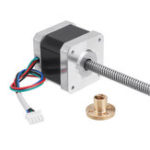 New Machifit Nema17 42mm Stepper Motor with T8 380mm Lead Screw for CNC Engraving Machine