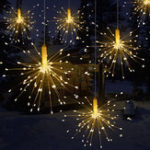 New 120/150/180 LED Firework Copper Wire Strip String Light Wedding Decor Atmostphere Light Fairy Light